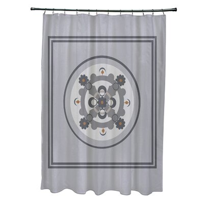 Anita Geometric Shower Curtain Color: Gray/Dark Gray