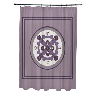 Anita Geometric Shower Curtain Color: Purple