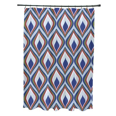 Menara Geometric Shower Curtain Color: Light Blue/Royal Blue