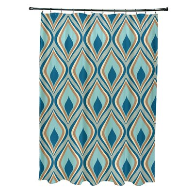 Menara Geometric Shower Curtain Color: Green/Teal