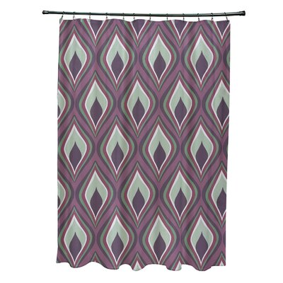 Menara Geometric Shower Curtain Color: Purple