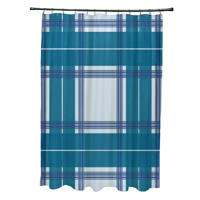 Menara Plaid Shower Curtain Color: Light Blue/Teal