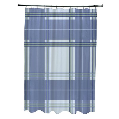 Menara Plaid Shower Curtain Color: Light Blue/Blue