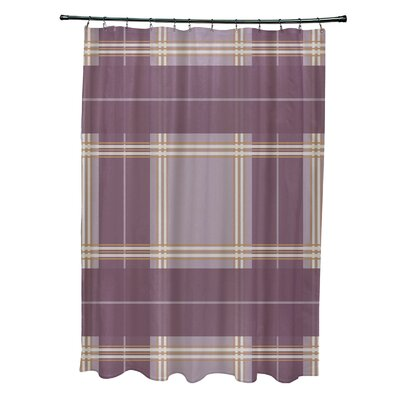 Menara Plaid Shower Curtain Color: Purple