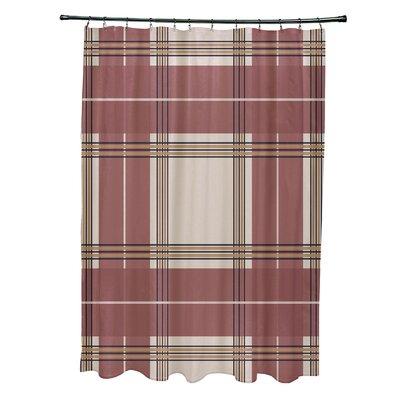 Menara Plaid Shower Curtain Color: Beige/Rust