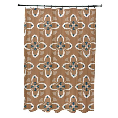 Katrina Shower Curtain Color: Brown/Ivory