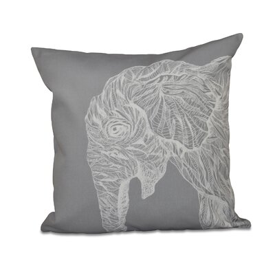 Menara Throw Pillow Color: Gray, Size: 18 H x 18 W