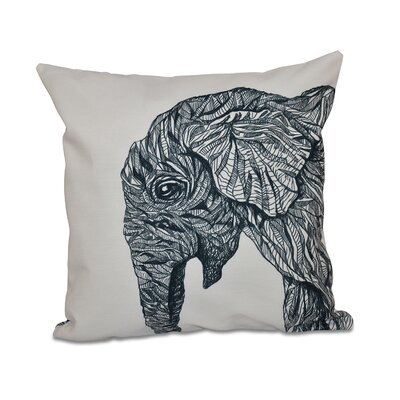 Blaisdel Throw Pillow Size: 16 H x 16 W, Color: Ivory/Black