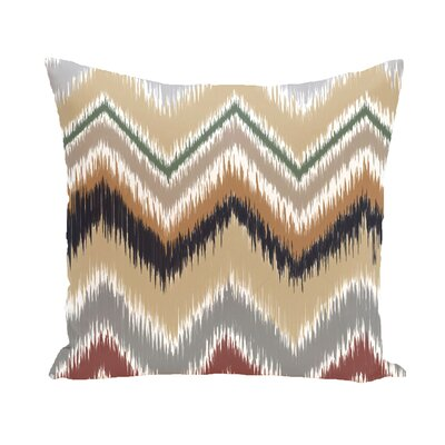 Arlington Chevron Throw Pillow Color: Navy Blue/Taupe/Beige, Size: 18 H x 18 W