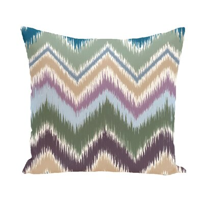 Arlington Chevron Throw Pillow Size: 20 H x 20 W, Color: Green