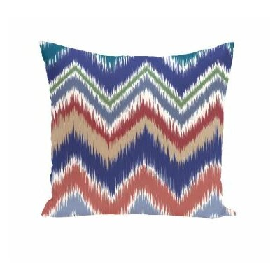 Arlington Chevron Throw Pillow Size: 16 H x 16 W, Color: Hoisin/Orange