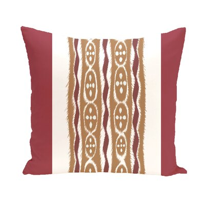 Arlington Stripe Throw Pillow Size: 16 H x 16 W, Color: Rust/Brown