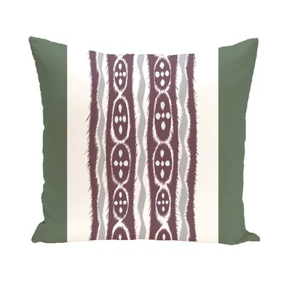 Arlington Stripe Throw Pillow Size: 18 H x 18 W, Color: Green/Purple