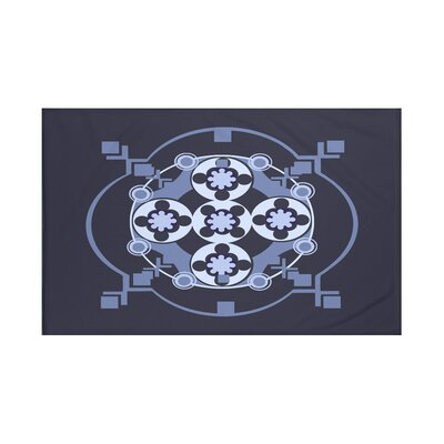 Shivani Geometric Print Throw Blanket Size: 60 L x 50 W, Color: Navy Blue