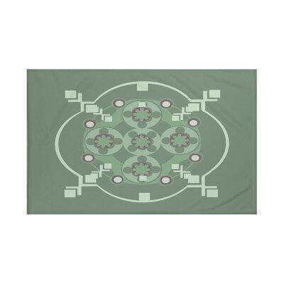 Shivani Geometric Print Throw Blanket Size: 60 L x 50 W, Color: Herb Green (Green)