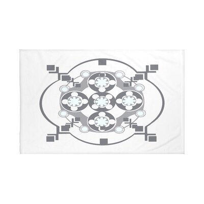 Shivani Geometric Print Throw Blanket Size: 60 L x 50 W, Color: Paloma (Light Gray/Dark Gray)