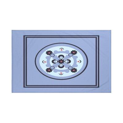Souihla Geometric Print Throw Blanket Size: 60 L x 50 W, Color: Cornflower (Light Blue/Navy Blue)