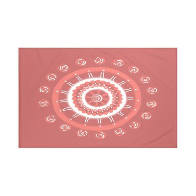 Nandai Geometric Print Throw Blanket Size: 60 L x 50 W, Color: Burnt (Coral)