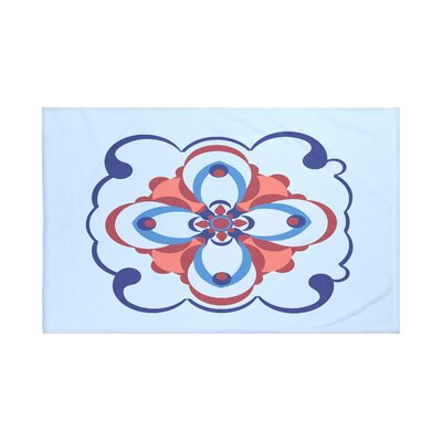 Souihla Too Geometric Print Throw Blanket Size: 60 L x 50 W, Color: Faded Glory (Light Blue/Royal Blue)