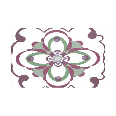 Souihla Too Geometric Print Throw Blanket Size: 60 L x 50 W, Color: Wine (Off White/Purple)