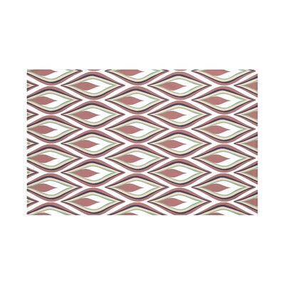 Shivani Geometric Print Throw Blanket Size: 60 L x 50 W, Color: Mahogany (Off White/Rust)