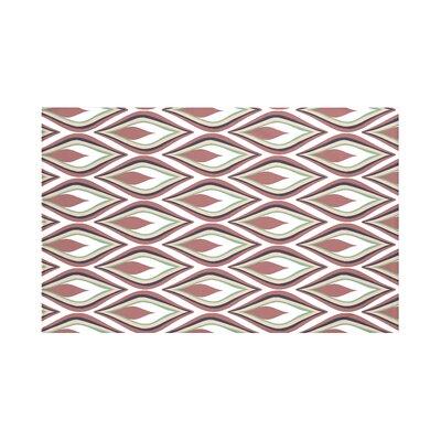 Shivani Geometric Print Throw Blanket Size: 60 L x 50 W, Color: Mahogany (Off White/Rust)