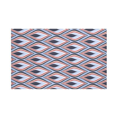 Shivani Geometric Print Throw Blanket Size: 60 L x 50 W, Color: Bewitching (Light Blue/Navy Blue)