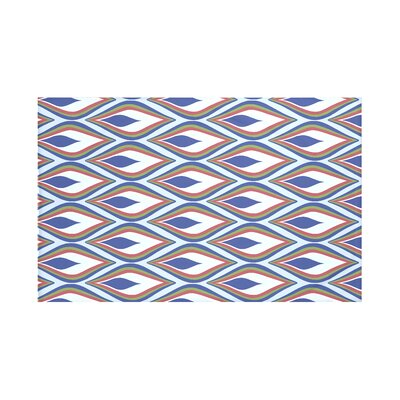 Shivani Geometric Print Throw Blanket Size: 60 L x 50 W, Color: Blue Suede (Light Blue/Royal Blue)