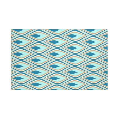 Shivani Geometric Print Throw Blanket Size: 60 L x 50 W, Color: Teal (Green/Teal)