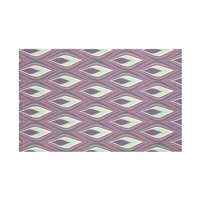 Shivani Geometric Print Throw Blanket Size: 60 L x 50 W, Color: Mulberry (Purple)