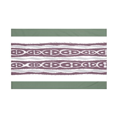 Fierro Stripes Print Throw Blanket Size: 60 L x 50 W, Color: Herb Green (Green/Purple)