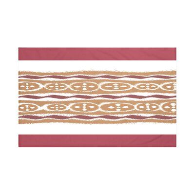 Fierro Stripes Print Throw Blanket Size: 60 L x 50 W, Color: Brick (Rust/Brown)
