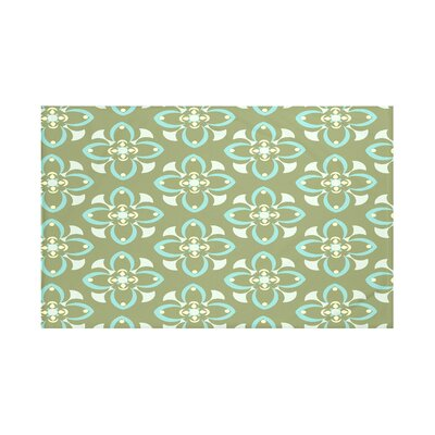Hamra Geometric Print Throw Blanket Size: 60 L x 50 W, Color: Olive (Green/Aqua)