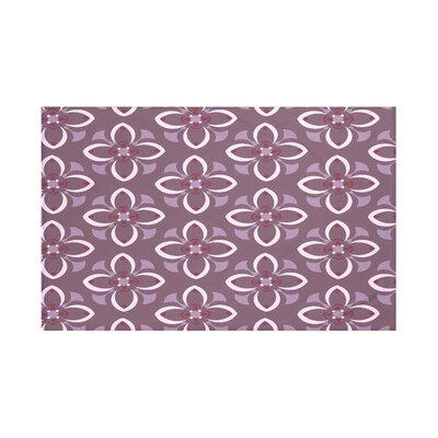 Hamra Geometric Print Throw Blanket Size: 60 L x 50 W, Color: Bordeaux (Purple)