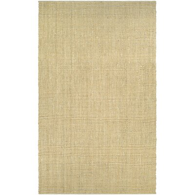 Damia Hand-Crafted Sand Area Rug Rug Size: Rectangle 35 x 55