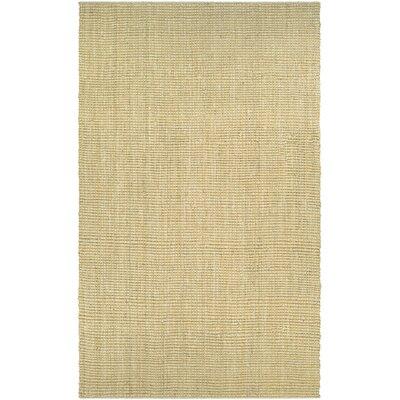 Damia Hand-Crafted Sand Area Rug Rug Size: 35 x 55