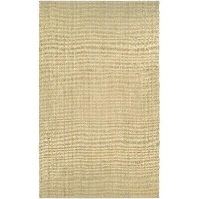 Damia Hand-Crafted Sand Area Rug Rug Size: 53 x 76