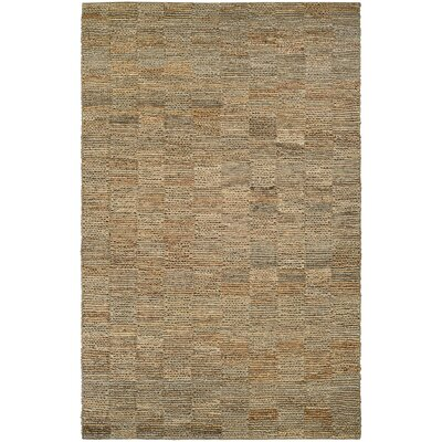 Gilles Hand-Crafted Natural Area Rug Rug Size: 35 x 55