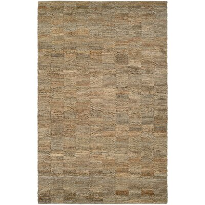 Gilles Hand-Crafted Natural Area Rug Rug Size: 53 x 76