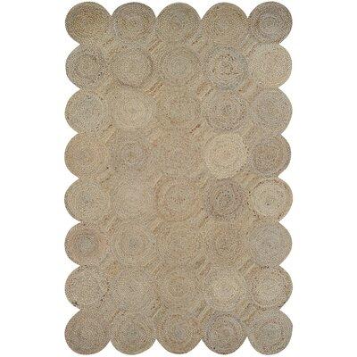 Gloria Hand-Loomed Straw Area Rug Rug Size: 4 x 6