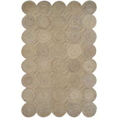 Gloria Hand-Loomed Straw Area Rug Rug Size: 6 x 9