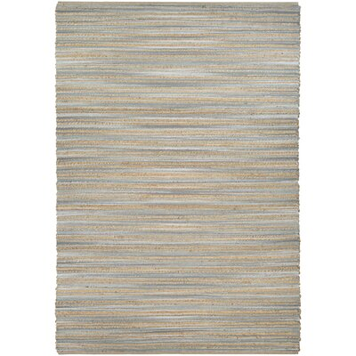 Gloria Hand-Loomed Straw/Gray Area Rug Rug Size: 6 x 9