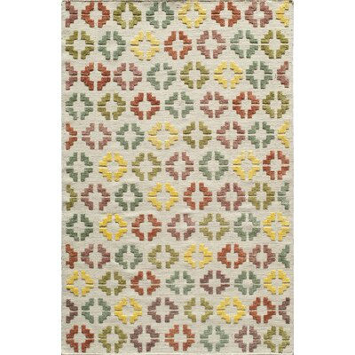 Kasa Hand-Woven Ivory Area Rug Rug Size: Rectangle 36 x 56