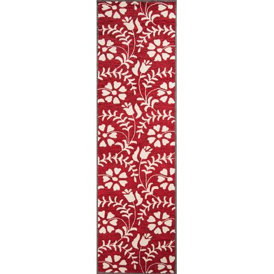 Aliyah Hand-Tufted Red Area Rug Rug Size: Runner 23 x 8
