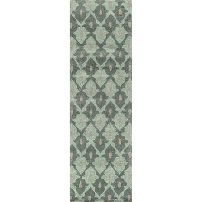Allen Hand-Tufted Teal Area Rug Rug Size: Runner 2'3