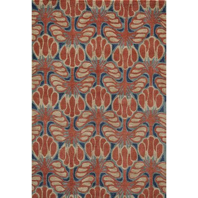 Allen Hand-Tufted�Red Area Rug Rug Size: Rectangle 36 x 56