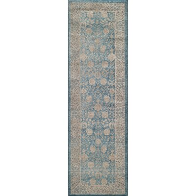 Scarlett Blue Area Rug Rug Size: Rectangle 710 x 910