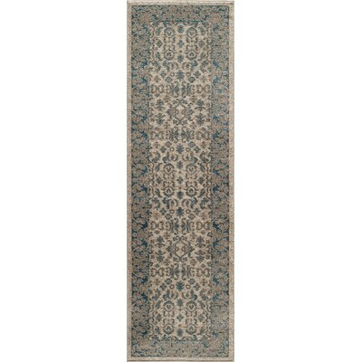 Scarlett Ivory Area Rug Rug Size: Rectangle 710 x 910