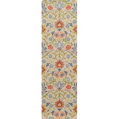 Anaya Hand-Tufted�Beige/Green Area Rug Rug Size: Rectangle 5 x 8