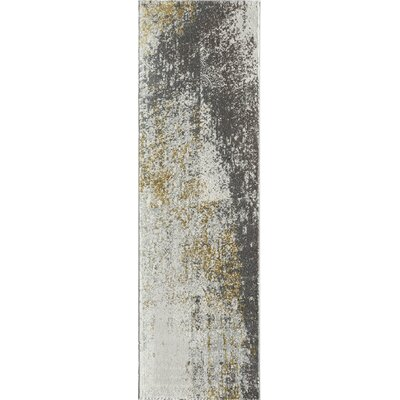 Daisie Gold/Gray Area Rug Rug Size: Runner 23 x 76